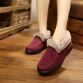 Women winter new fashion style 2016 solid causal thick with fur comfortable boots round head flat women ankle boots ST1510