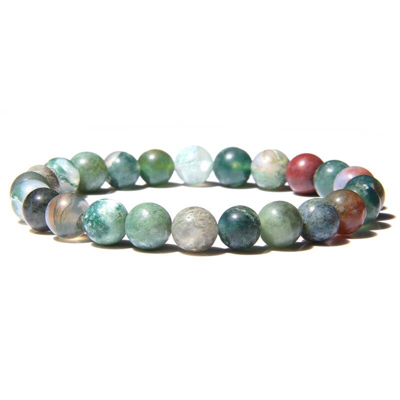 Natural Stone Beads Bracelet For Women Men Beads Lava Agates Quartz Chakra Yoga Bracelets For Women Jewelry Gifts