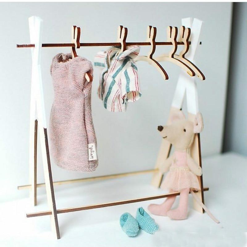 Cute Rabbit Wooden Coat Clothes Hanger