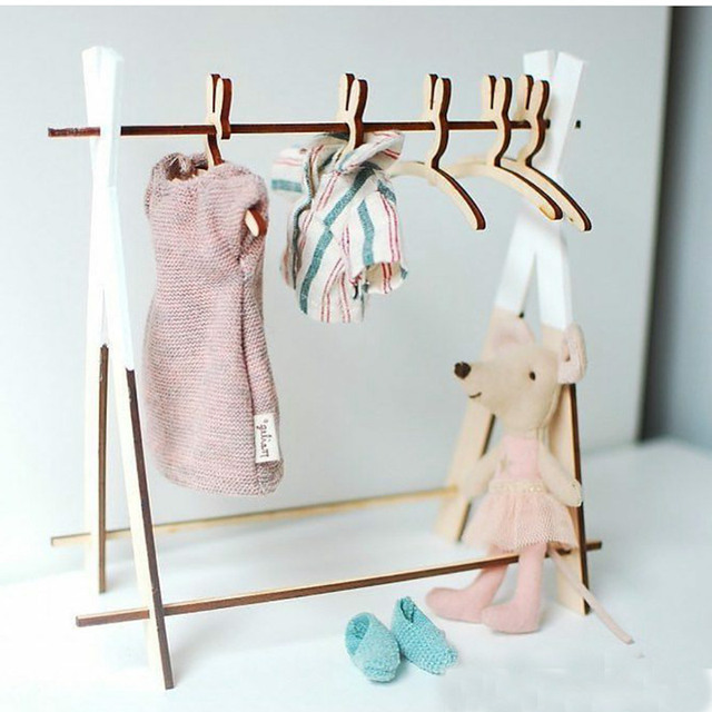 01cc7dd1e Cute Rabbit Wooden Coat Clothes Hanger Rack Child Baby Kids Hangers ...