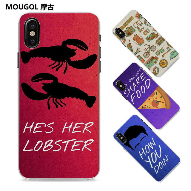 save off 24e72 d28fc MOUGOL Friends TV Show Collage quote Style Thin clear phone shell case for  Apple iPhone X 8 8Plus SE 5 5s 7 7Plus 6 6sPlus-in Half-wrapped Case from  ...