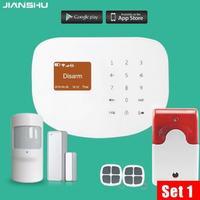 Сенсорной клавиатурой Дисплей дома аварийная система PSTN GSM сигнализация безопасности Системы умный дом охранной Защита от взлома для пожар