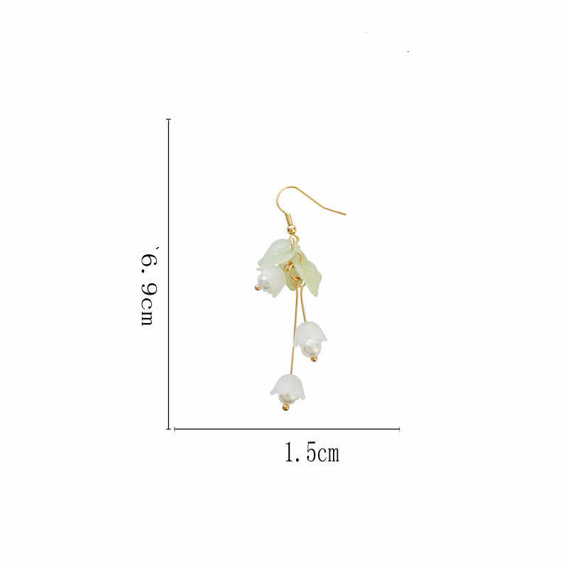 Aestheticism เอกสาร eardrop ขนาดเล็กบริสุทธิ์และสดและหวานสาวลิลลี่ดอกไม้ต่างหูนักเรียน joker แฟชั่นต่างหู