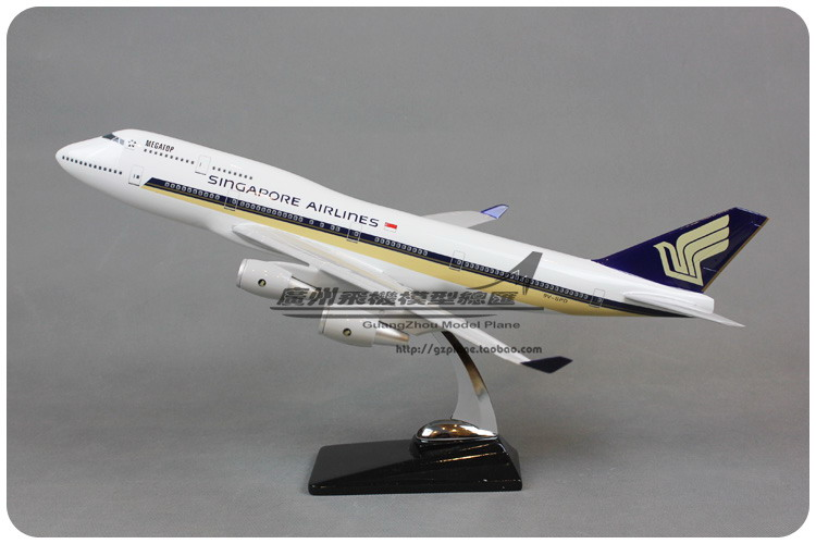 47cm Singapore Boeing 747 Airlines Airplane Model Resin Airways Airbus Singapore B747-400 Aviation Aircraft Diecast Scale Model 1 400 jinair 777 200er hogan korea kim aircraft model