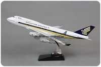 47cm Singapore Boeing 747 Airlines Airplane Model Resin Airways Airbus Singapore B747 400 Aviation Aircraft Diecast Scale Model