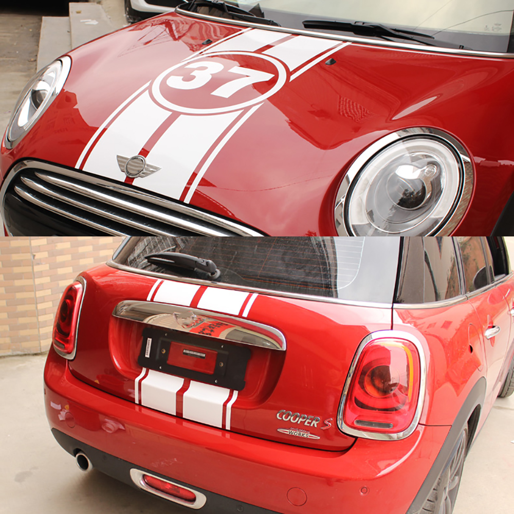Car Hood Engine Trunk Rear 37 Number Decals Stickers For Mini Cooper One D Clubman F54 F55 F56 F60 R56 R60 R61 Car Accessories