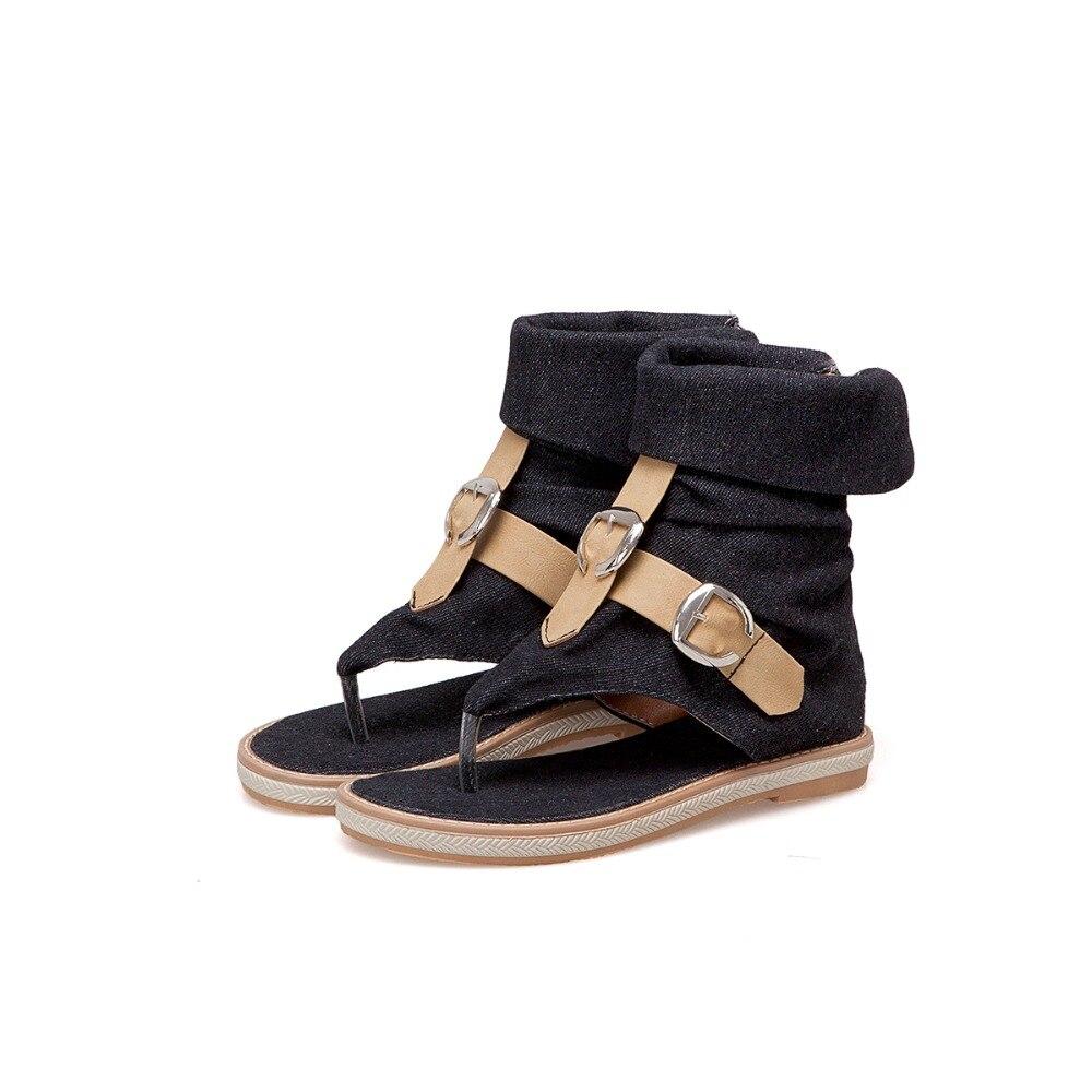 HTB170rELzTpK1RjSZKPq6y3UpXaf CDPUNDARI Ladies Denim Flat sandals for women Platform Sandals summer shoes woman Gladiator Sandals sandalias mujer 2019