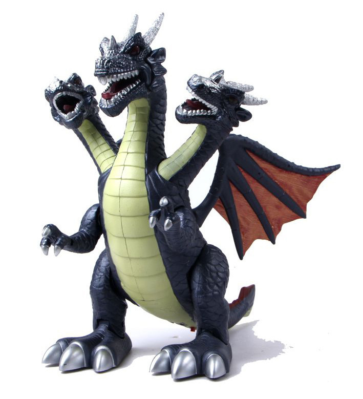 [Best] Jurassic World Electric Dinosaur Flash And Sound Three Head Of Drago Talking Toy Child Interactive Toy Walk Talk Model