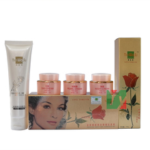 wholesale and retail Yan Wo Su skin care complete set red in whitening anti spot cream for face 4 1 pink bottle