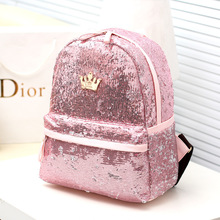 Plush Baby Bottle Holder Time-limited Solid Big Mouth 30ml A New Bag Backpack 2016 Korean Crown Sequin Snsd