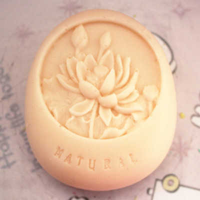 Lotus Pattern Clay Molding Cement Ceramic Casting Silicone Molds Hand made Soap Resin Mould