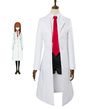 Disfraz de Cosplay Steins Gate 0 Makise Kurisu, uniforme para adultos, mujeres, chicas, juegos completos, disfraz de Halloween