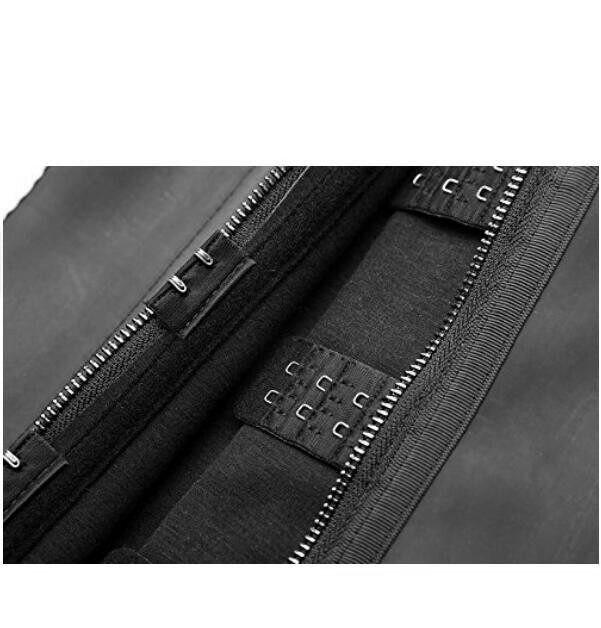 bad59de11e Online Shop Zipper And Hooks Combo Rubber Latex Waist Trainer Sexy ...