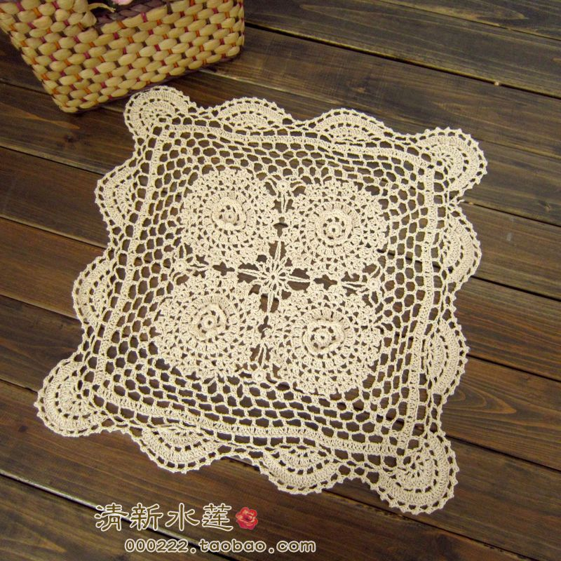 Beau Fashion Design Handmade 3D Crochet Dining Table Cloth American 100% Cotton  Knitted Table Cover Decoration Towel Fore Wedding De In Tablecloths From  Home ...