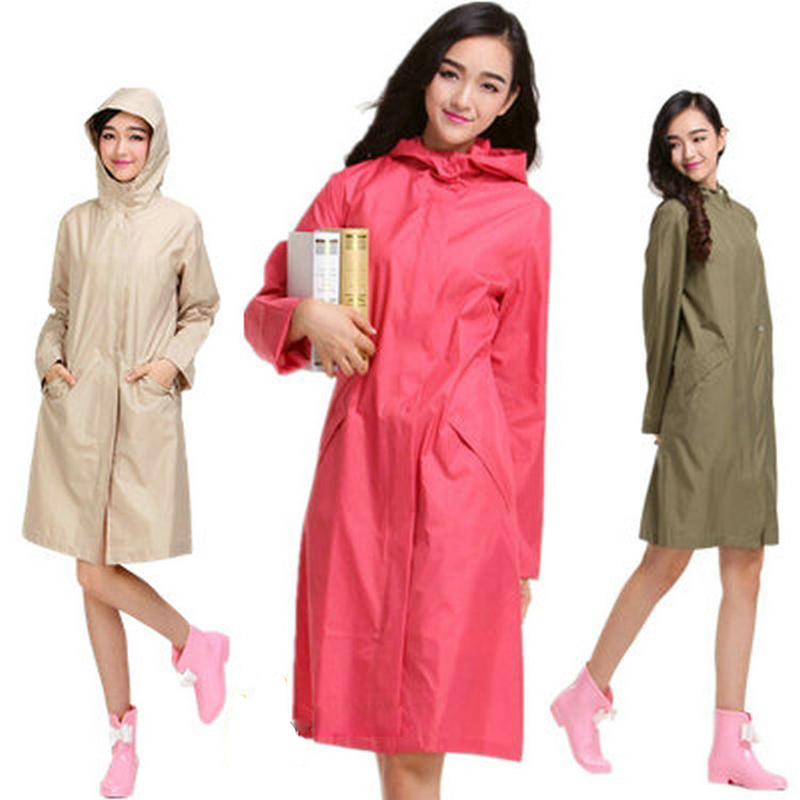 50% Off High Quality Fashion Personality Rain Coat Solid Zipper ...
