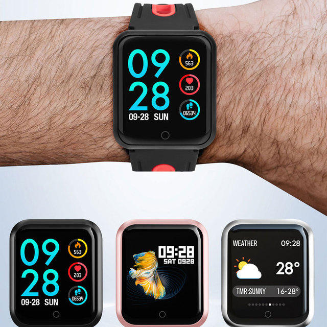 P68 Smart watch IP67 Waterproof Fitness Tracker Heart Rate Monitor Blood Pressure Women men Clock Smartwatch For Android IOS 3