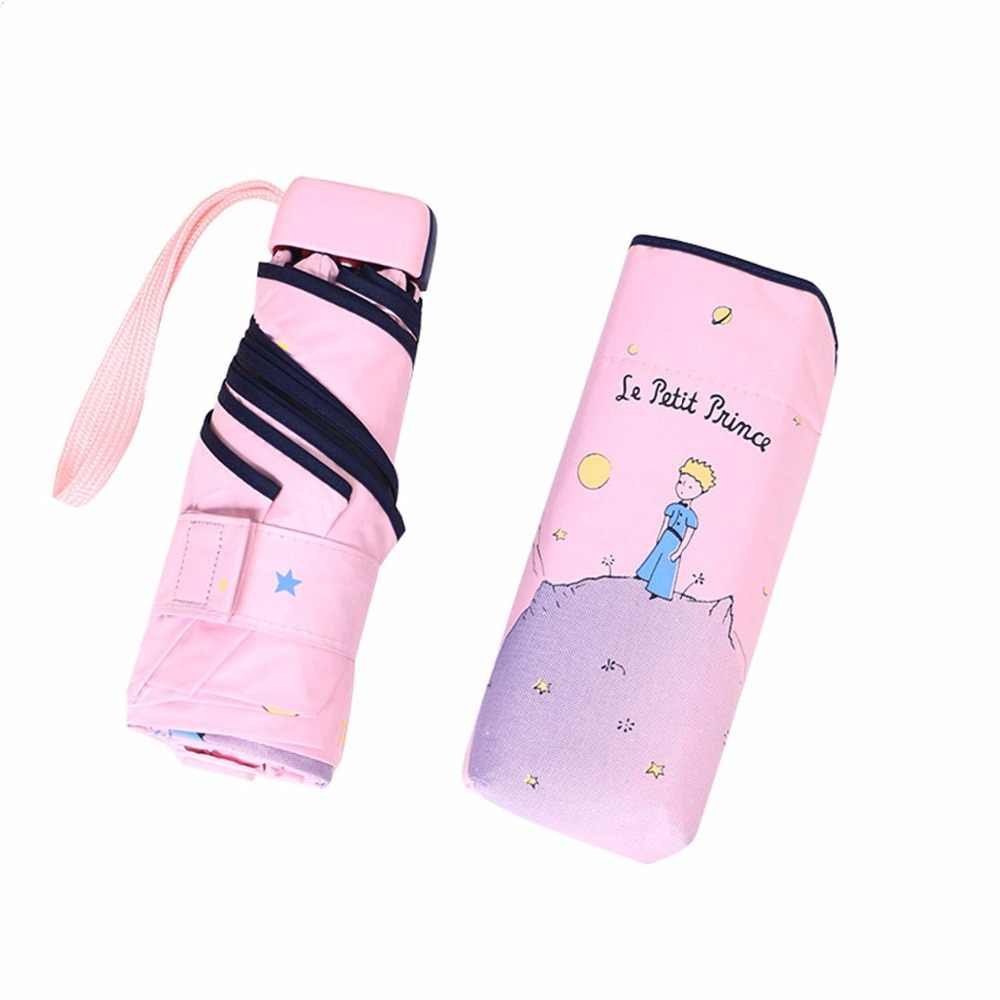 2019New карманный мини-детские зонтики детский складной зонт Анти-УФ ветрозащитный портативные зонты для женщин мужчин детей женщин