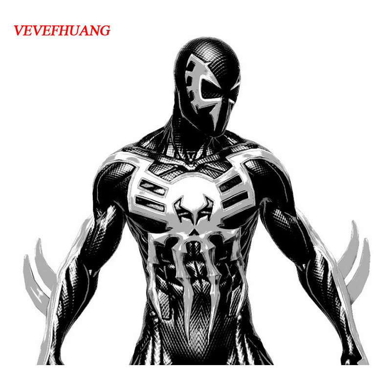 VEVEFHUANG Spider-Man 2099 Miguel O'Hara cosplay Super hero Spiderman Costumes Zentai Suit Adult Jumpsuit Long Sleeve Rompers