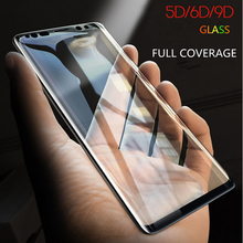 For Samsung Galaxy S8 S9 Plus S7 Edge Note 8 9 Mobile Phone Film 6D Tempered Glass Full Coverage Curved Screen Guard Protector