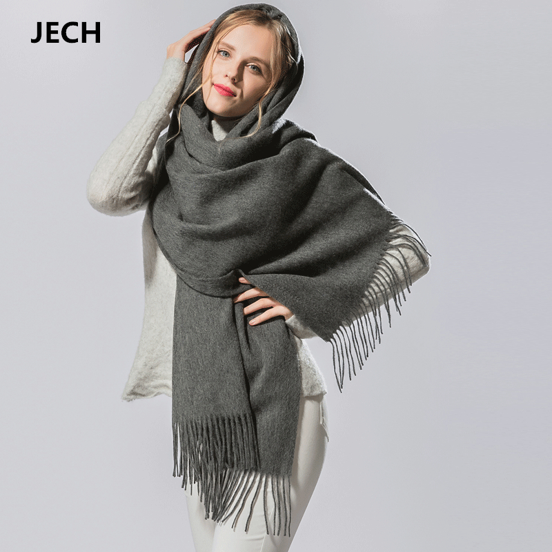 Hot Sale Cashmere Wool   Scarf   Pashmina   Scarf     Wrap   Shawl Autumn   Wrap     Scarf   Women's Men's   Scarves   Tassel Long Blanket High Quality