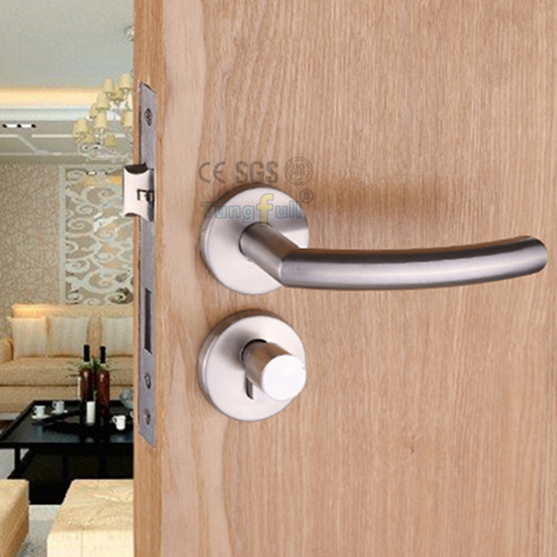 Design Mute Lock Split Style Engineering Locks Iron Door Knob Wood-Door Stainless Steel Handle-Lock