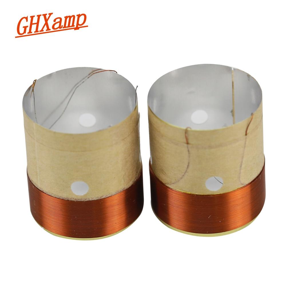 1pcs 25.5mm 8 ohms bass voice coil speaker drive voice coil white aluminum