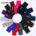 Winter Warm Mink Cashmere Knitted Fingerless Female Gloves Women Short Gloves Mittens Luvas de inverno feminina