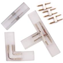 2-контактный я л т-угол Соединительный лампа со специальными промежуточные медь контактный разъем для 110V 220V светодиодный пропилен-каучука прокладки с 5050 3014 2835 монохромным
