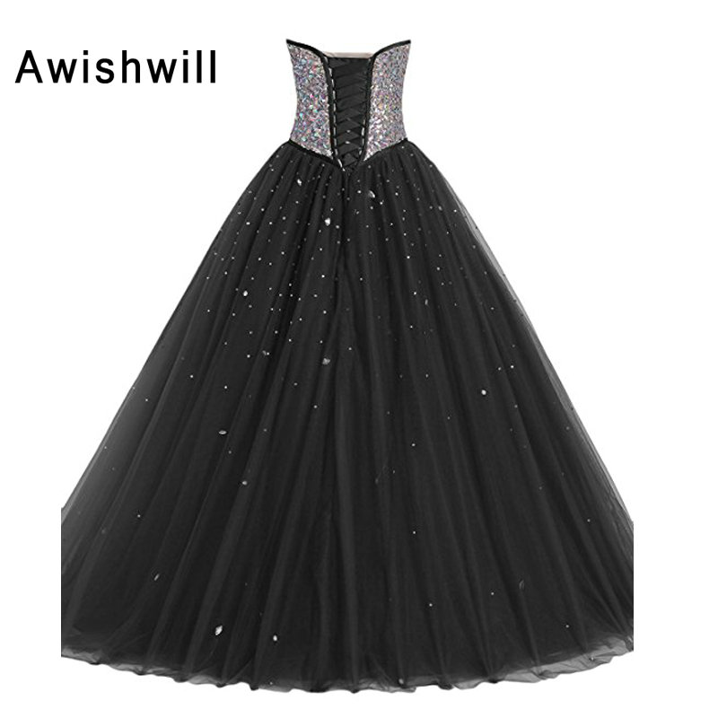 New Arrival Masquerade Ball Gowns Prom Dress Sparkly Beadings Tulle ...