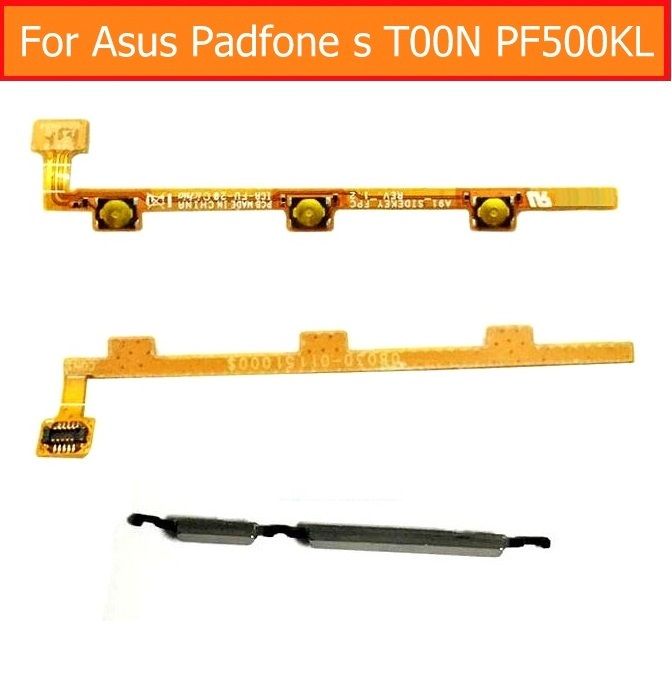 Guarantee Genuine Power Flex Cable For Asus Padfone S T00N PF500KL Volume Control Key Button Switch On/off Button Flex Cable