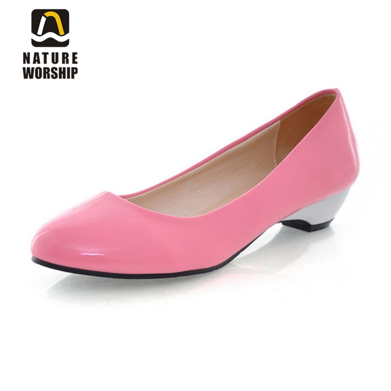 Big size 34-43 women shoes Patent Leather women flat shoes Solid Pointed Toe Office and Career lady shoes comfortable lazy shoes sgesvier comfortable senior leather fabrics simple and easy red green and four color yellow women flat shoes size 34 41 xt21