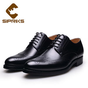 ff371f756 Sipriks Dress Shoes Brogue Shoes For Men Black Leather