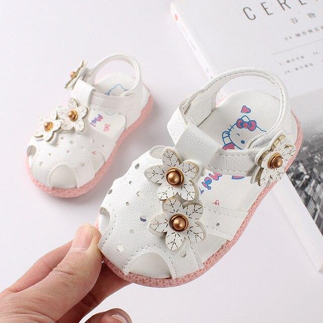 771e3cefb Las niñas bebé niño Sandalias Niño zapatos de verano chico lindo flor  sandalias de bebé princesa