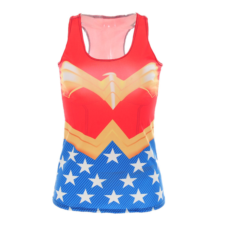 229bbf8b553 New Summer Women Tank Tops Fashion Strapless Tops Ladies Wonder Woman Print Tank  Top Free shipping-in Tank Tops from Women s Clothing on Aliexpress.com ...