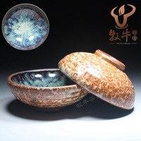 De chá de japonês cerâmica grossa copo 80 ml lote misto de fogos de artifício azul personalizado de presente de natal
