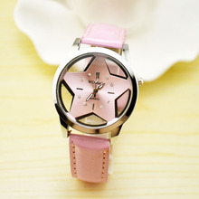 2017yearsThe supply of the New South Korean fashion ladies with creative female form hollow belt skin watch