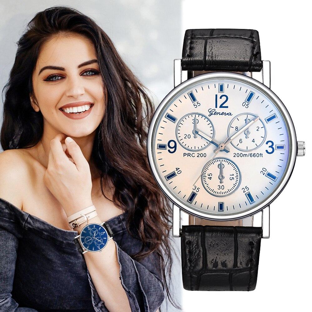 Good Quality Luxury Big Dial Design Ladies Watches Women Fashion Dress Women's Watch Popular Anti Leather Quartz Wristwatches RN