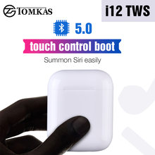 i12 TWS Bluetooth 5.0 Earphone 1:1 Replica Size Touch Control Wireless Headphones 3D Stereo Earbuds PK W1 Chip i10 i11 i20 TWS(China)