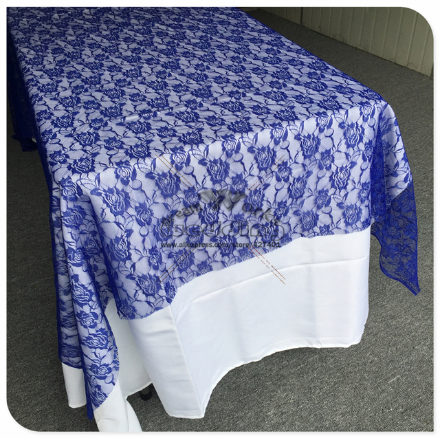 Free Shipping Royal Blue Lace Tablecloth Rectangular Tablecloths For  Wedding Banquet Table Cover Party Supplies Home Textile