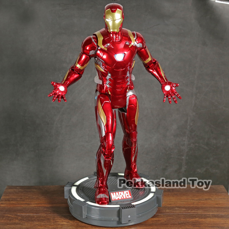 Marvel Captian America Civil War Iron Man with LED Light PVC Action Figure Collectible Model Toy Marvel Captian America Civil War Iron Man with LED Light PVC Action Figure Collectible Model Toy