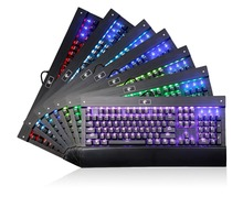 Backlit Chroma Dimmable RGB LED Mechanical Keyboard for dota 2 and Designe with 104 Buttons No