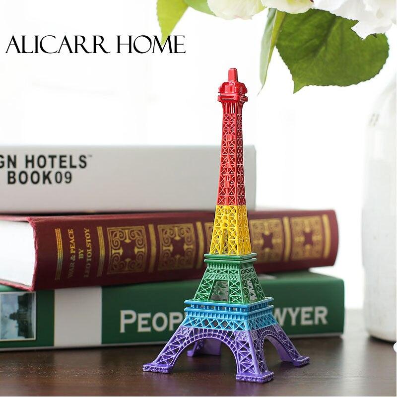 Le nouveau modèle de la tour Eiffel tour Eiffel Paris arc en ciel couleur décoration décoration cadeau ameublement
