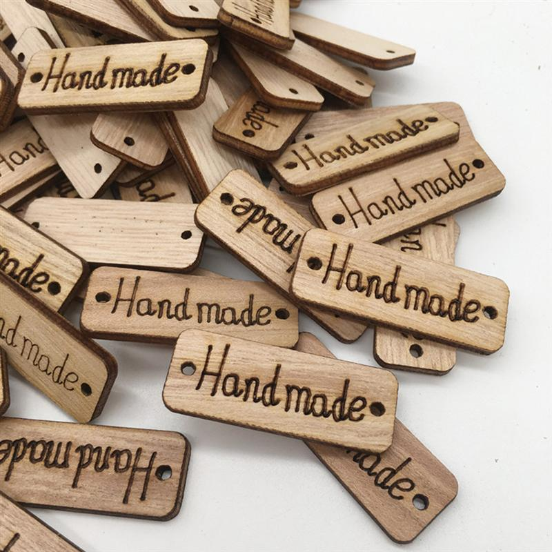 100Pcs Wooden Pieces Carved Environmentally Friendly Wood Ornament For Arts DIY Scrapbooking Crafts Wood Decoration A3