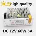 Алюминий AC 220 В 50 ~ 60 Гц в постоянный 12 В 5A 60 Вт трансформатор освещения безопасный доброкачественная простая операция из светодиодов ленты питания привод