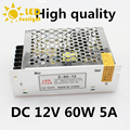 Aluminium AC 220V 50~60HZ to DC 12V 5A 60W Lighting Transformer secure quality simple operation LED strip power supply Drive