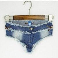 2017pole Dancing Sexy Women S Summer Crystal Shorts Jeans Denim Micro Mini Jean Ultra Low Rise
