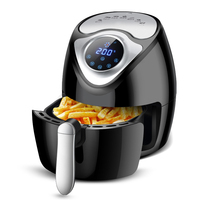 CUKYI 2.6L Smart Oil Free Electric Deep Fryer Fritadeira Eletrica Chips Fries Machine Cake Maker Beef Meat Cooker 220V