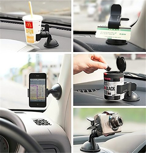 Universal Windscreen Car Phone Holder Windshield Stand Dashboard Clip 360 Degree Mount