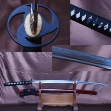 Handmade Full Tang Japanes Vintage Samurai Sword Folded Steel Blade Clay Tempered 32768 Layers Katana Sharp Edge Knife DP13