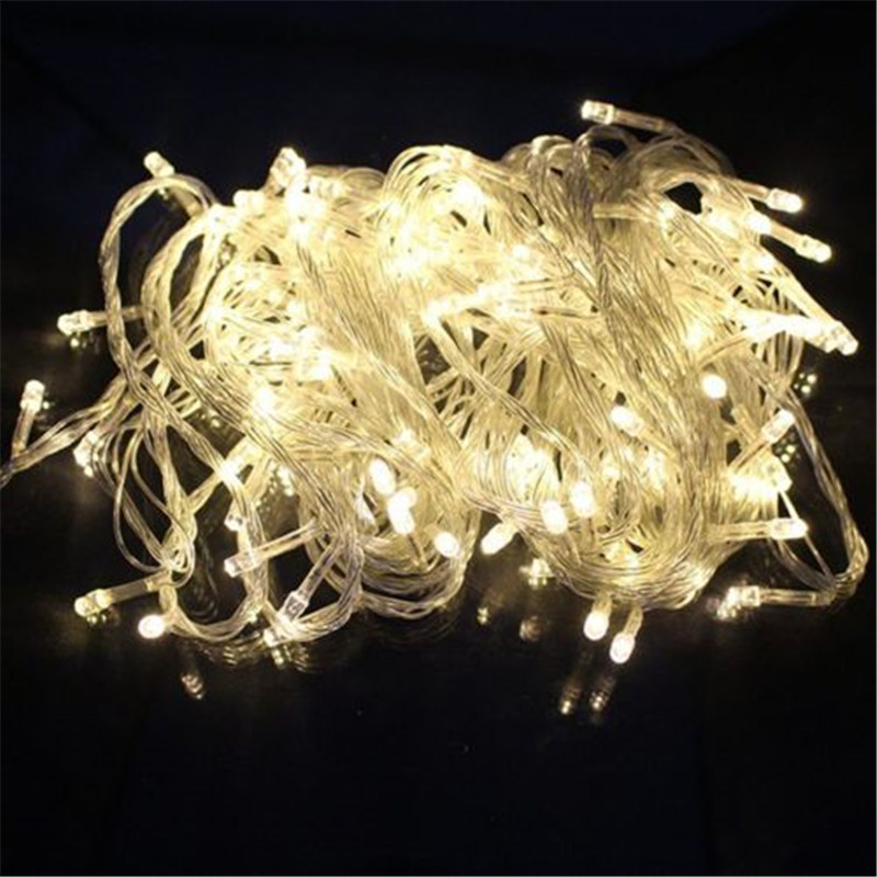 33ft LED Рождество свет Водонепроницаемый 10 м 100LED Рождество праздник светодиодной строки декоративные свадьбы огни Фея светодиодная гирлянда